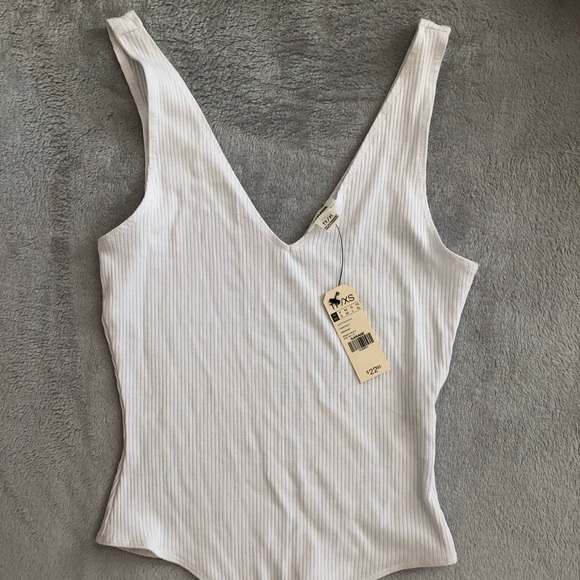 NWT Garage Bodysuit White Size XS